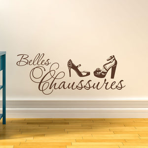 Belles Chaussures-Wall Decal