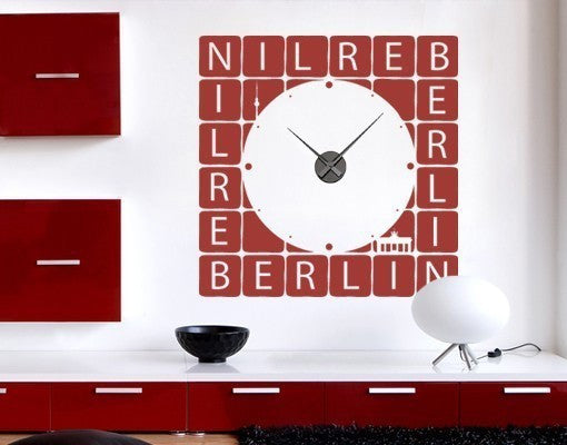 Berlin Wall Decal Clock