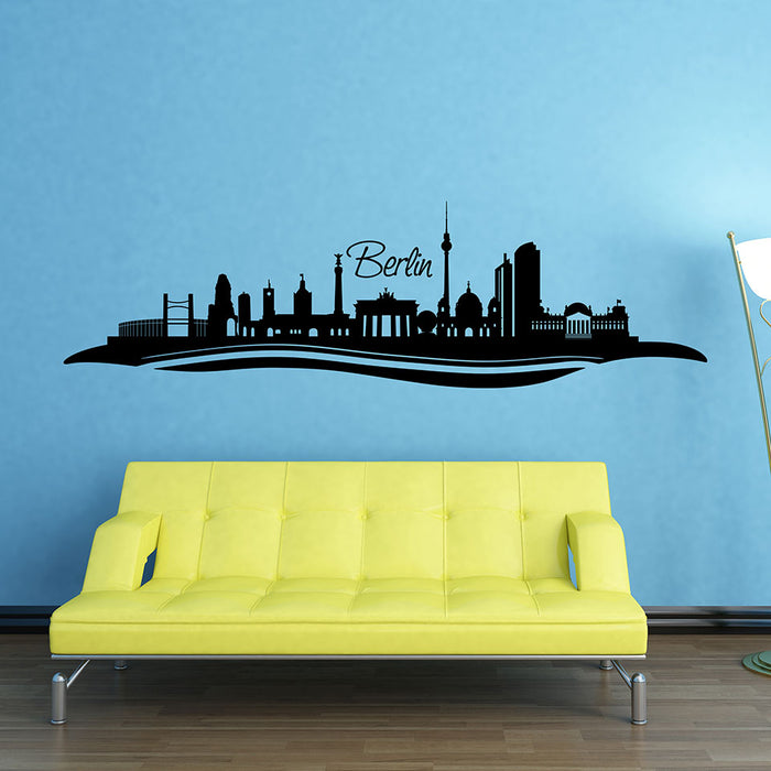 Berlin City Skyline Wall Decal