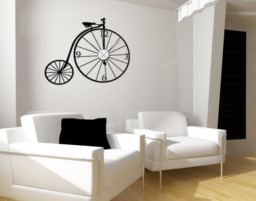 Bicycle Clock-Wall Decal Clocks-Style and Apply
