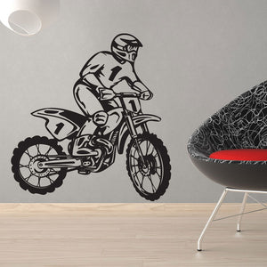Dirt Bike Rider-Wall Decal