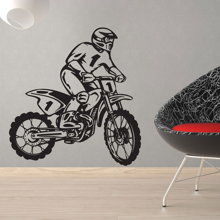 Dirt Bike Rider Wall Decal