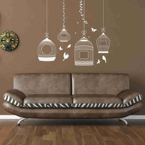 Bird Cages Wall Decal-Wall Decals-Style and Apply