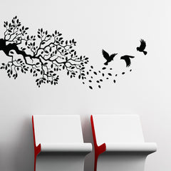 Birds and Branch Wall Decal-Wall Decals-Style and Apply
