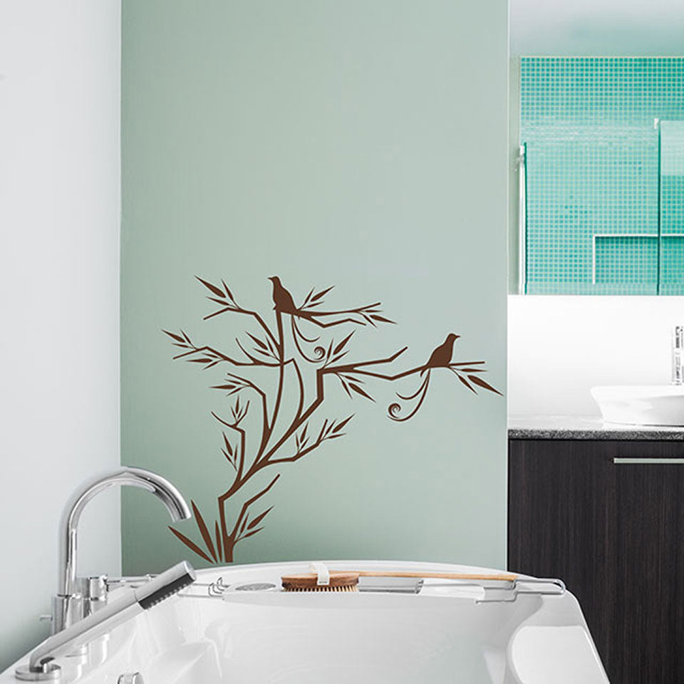 Bird's Sapling-Wall Decal