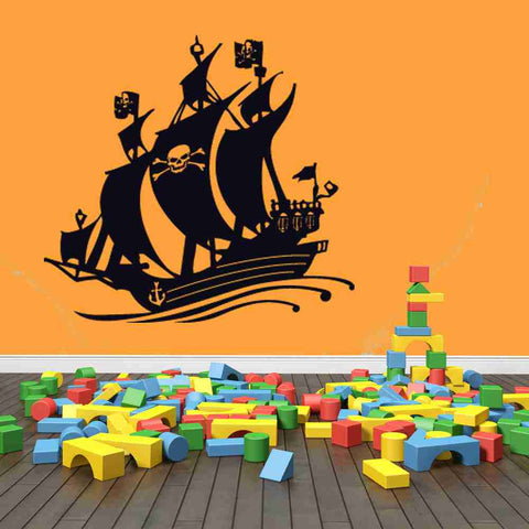 Black Bart Pirate Ship Wall Decal-Wall Decals-Style and Apply