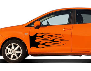 Black Flame-Car Decals-Style and Apply