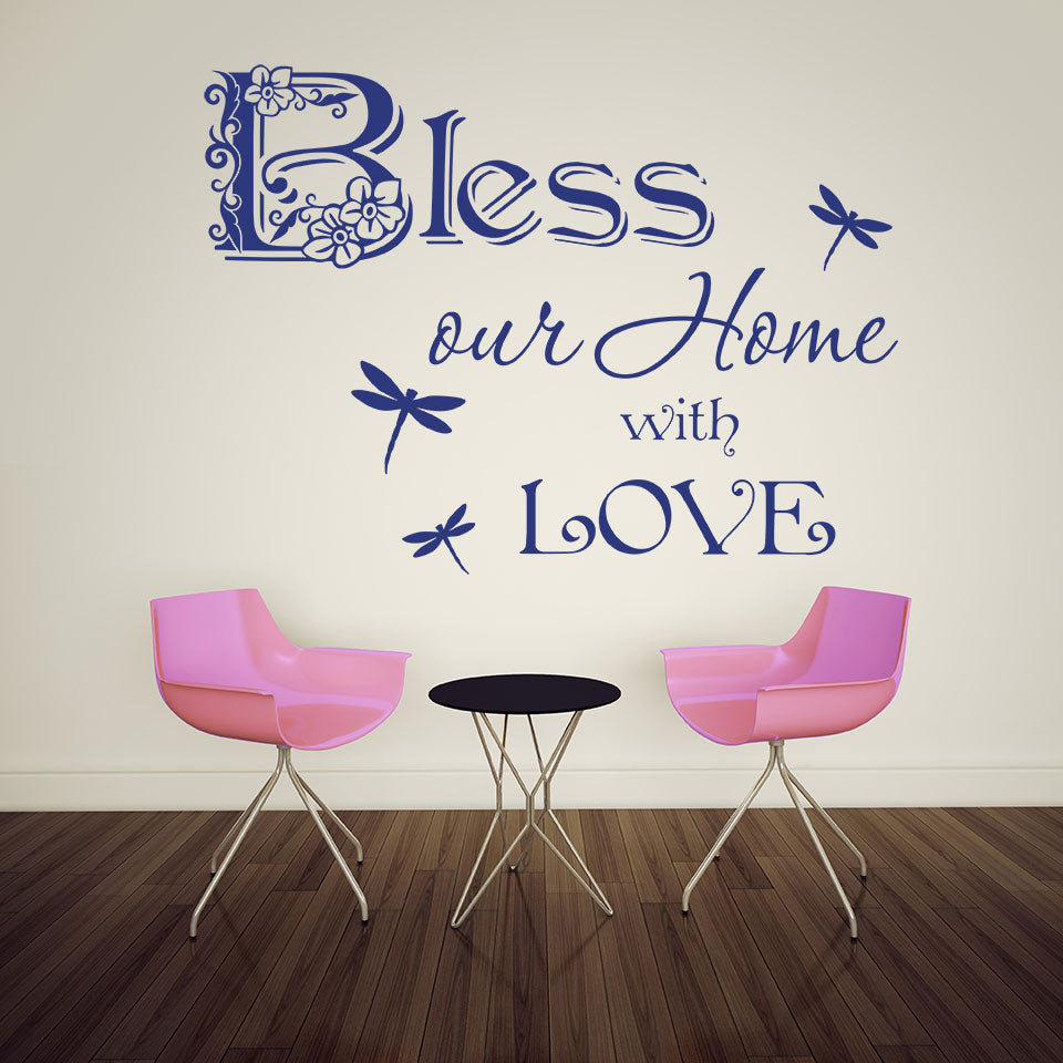 Bless Our Home Quote-Wall Decal