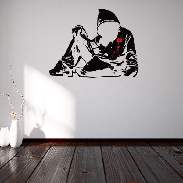 Bloody Hoodie Banksy Wall Decal Sticker-Wall Decal Stickers-Style and Apply