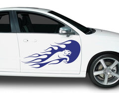 Blue Panther-Car Decals-Style and Apply
