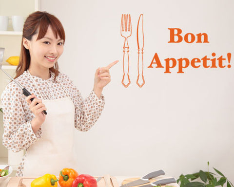 Bon Appetit! Wall Decal-Wall Decals-Style and Apply