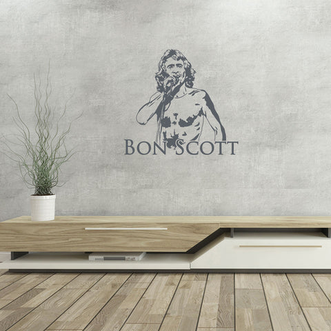 Bon Scott Wall Decal