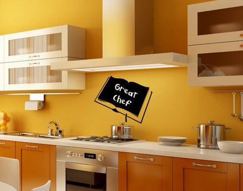 Book-Blackboard and Whiteboard Wall Decals-Style and Apply