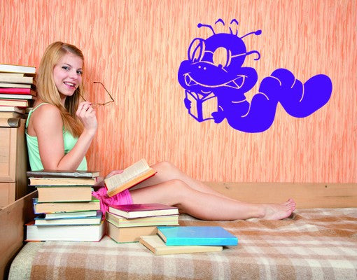 Bookworm Wall Decal