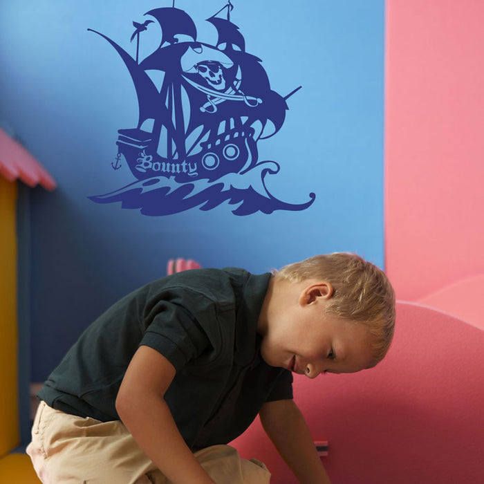 Pirate Ship II Wall Decal