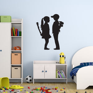 Boy Meet Girl Banksy Wall Decal-Wall Decals-Style and Apply