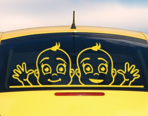 Boys At The Window Car Decal