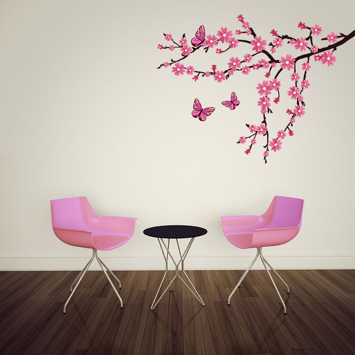 Branch with Cherry Blossom Wall Decal