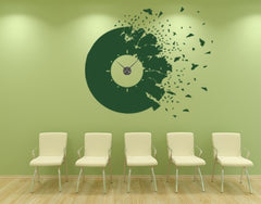 Broken Record-Wall Decal Clocks-Style and Apply