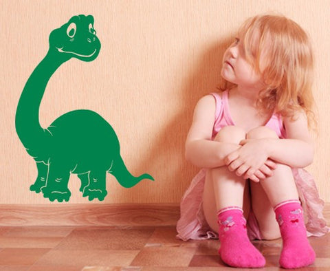 Brontosaurus Decal-Wall Decals-Style and Apply