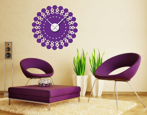 Bubble Clock Decal-Wall Decal Clocks-Style and Apply