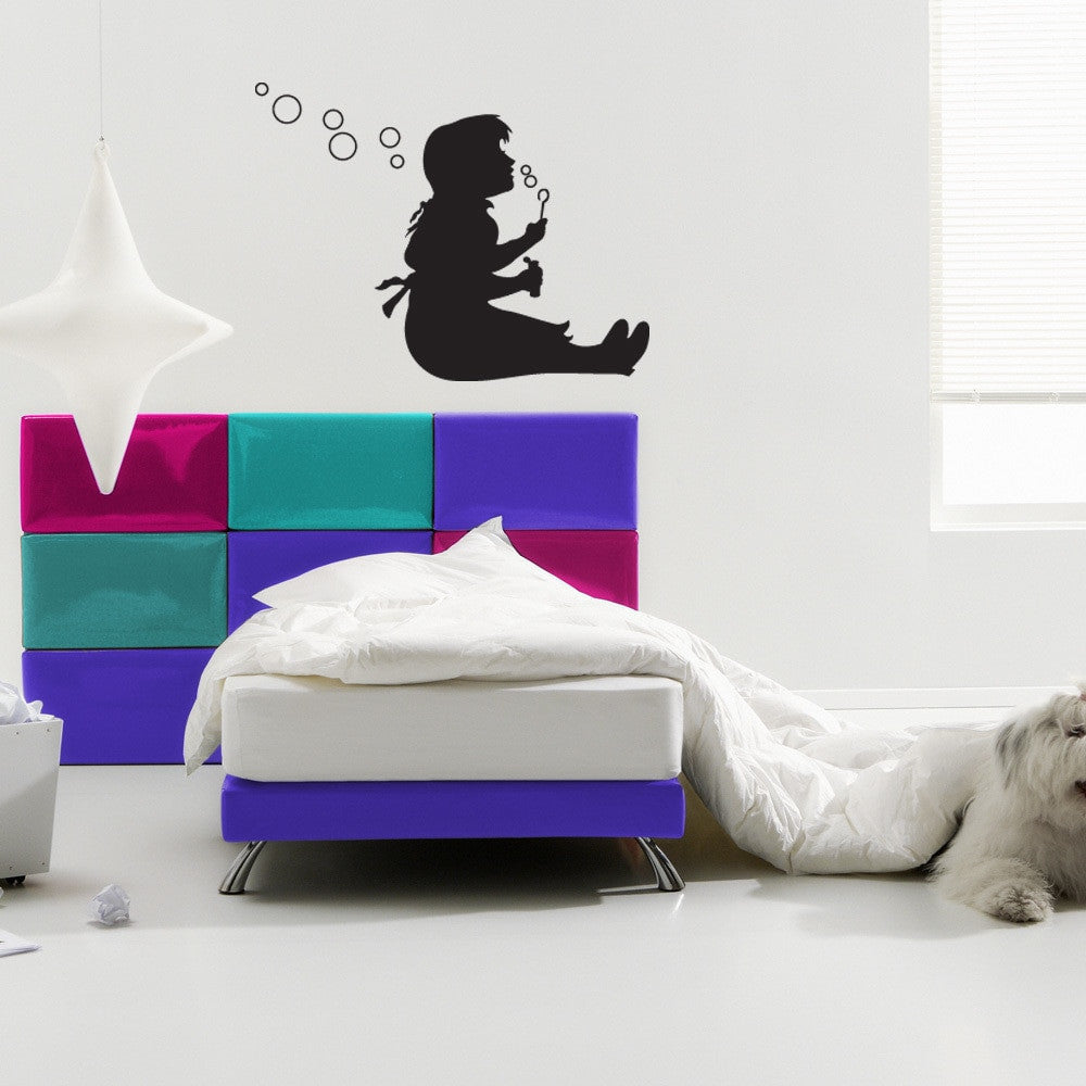 Bubble Girl Banksy Wall Decal-Wall Decals-Style and Apply