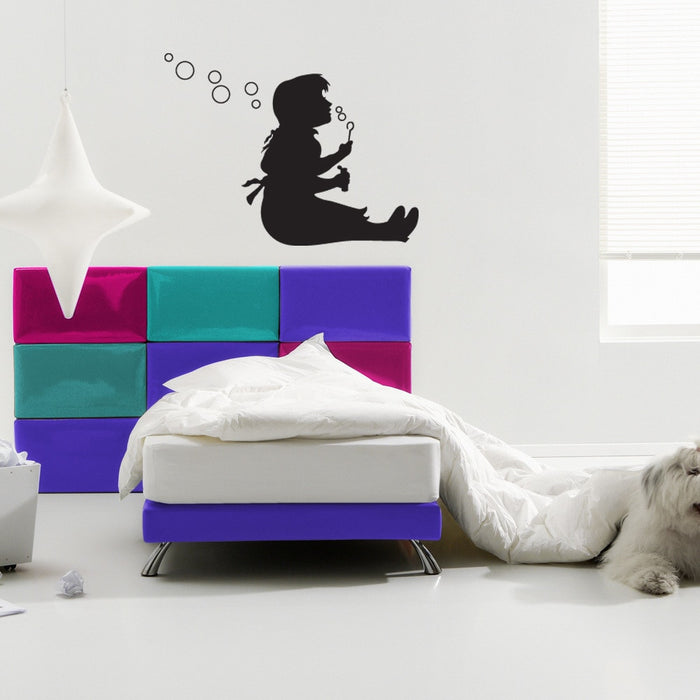 Bubble Girl Banksy Wall Decal