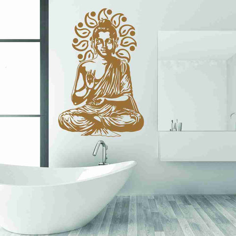 Buddha Meditating Wall Decal-Wall Decals-Style and Apply