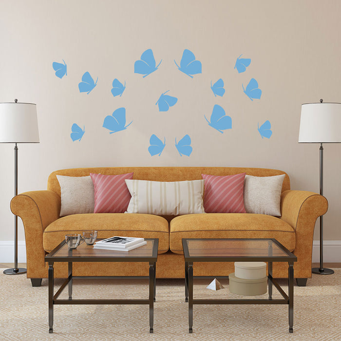 15 Butterflies Wall Decal