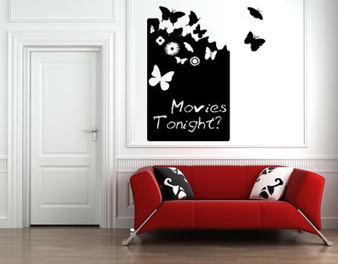 Butterfly Board-Blackboard and Whiteboard Wall Decals-Style and Apply