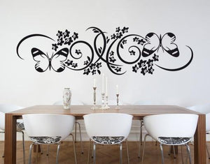 Butterfly Branch-Wall Decals-Style and Apply