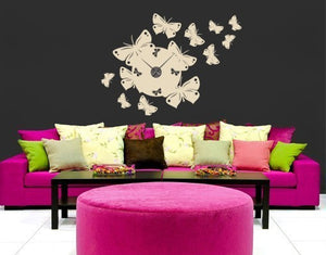 Butterfly Clock-Wall Decal Clocks-Style and Apply