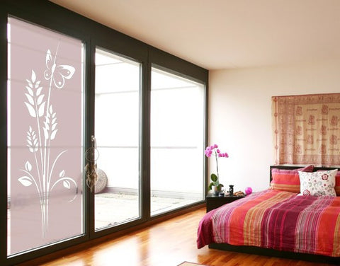 Butterfly plant-Window Decals-Style and Apply