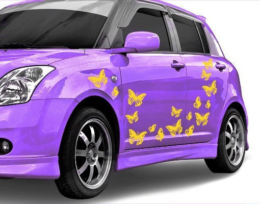 Butterfly Set-Car Decals-Style and Apply