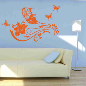 Butterfly Vine Wall Decal-Wall Decals-Style and Apply