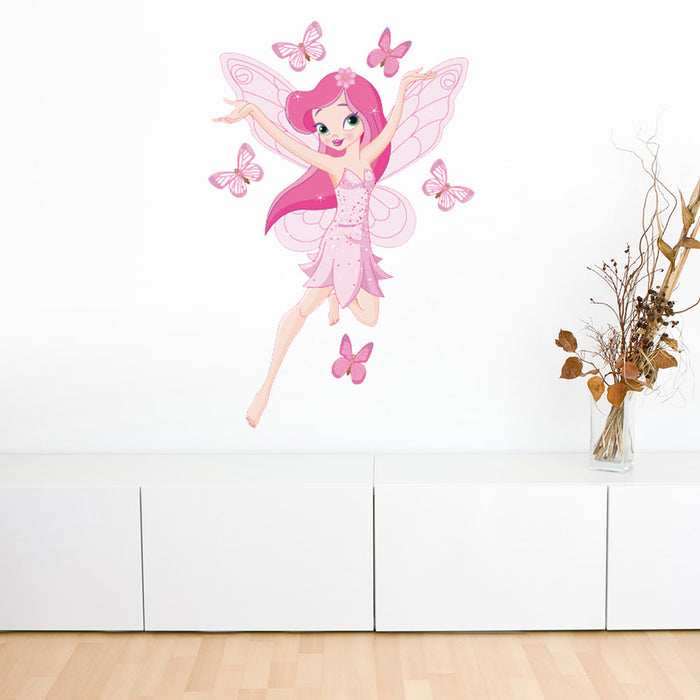 Butterfly and the Princess Wall Decal