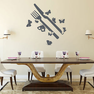 Butterfly Silverware-Wall Decal