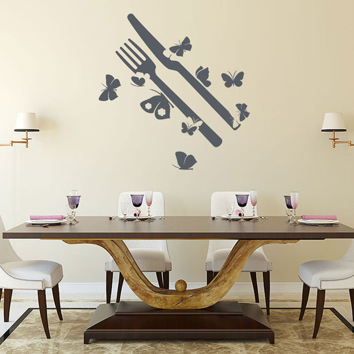 Butterfly Silverware Wall Decal