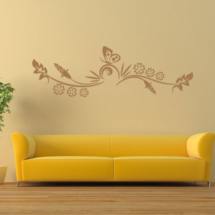Butterfly Tendril Wall Decal