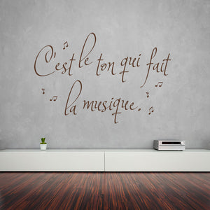 C'est le ton Music Wall Quote