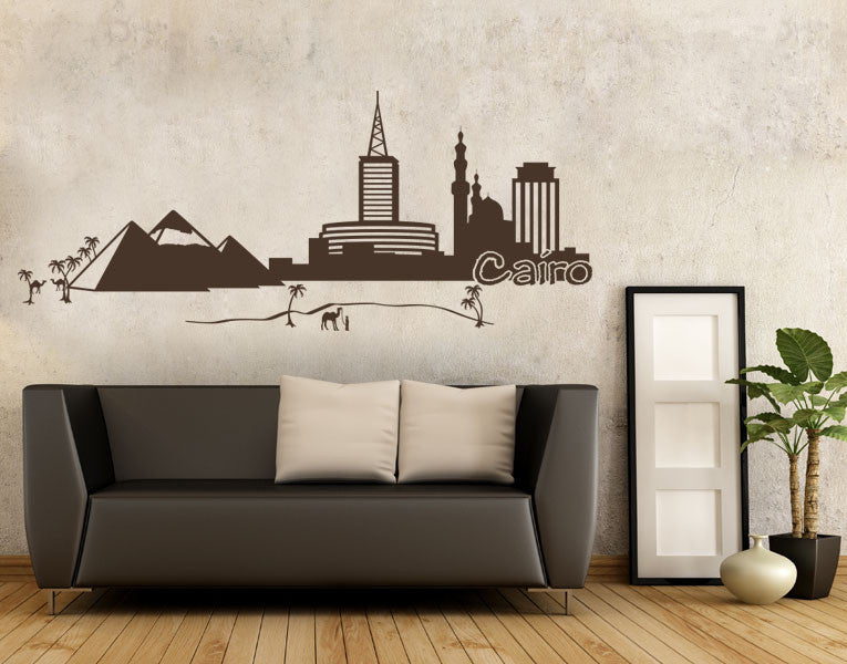 Cairo Skyline Decal-Wall Decals-Style and Apply
