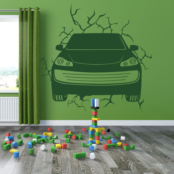 Bustin' Through Wall Decal