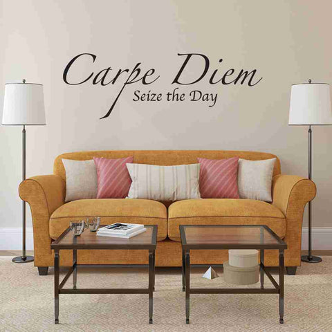 Carpe Diem, Seize the Day Wall Decal-Wall Decals-Style and Apply