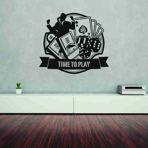 Casino Wall Decal-Wall Decals-Style and Apply