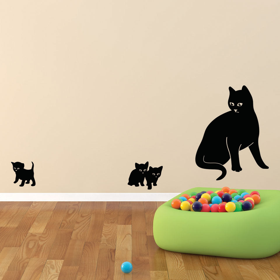 Cat Family Wall Decal Style And Apply