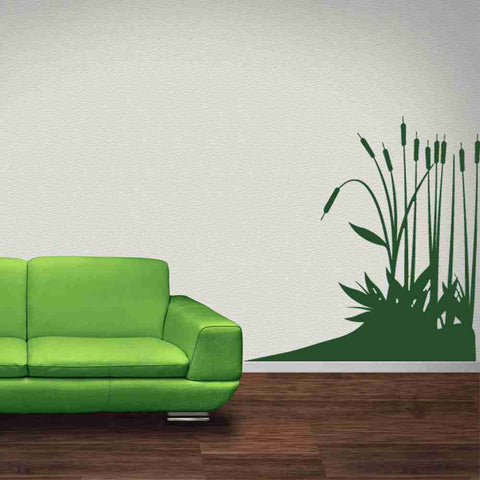 Cattail Plants Wall Decal-Wall Decals-Style and Apply