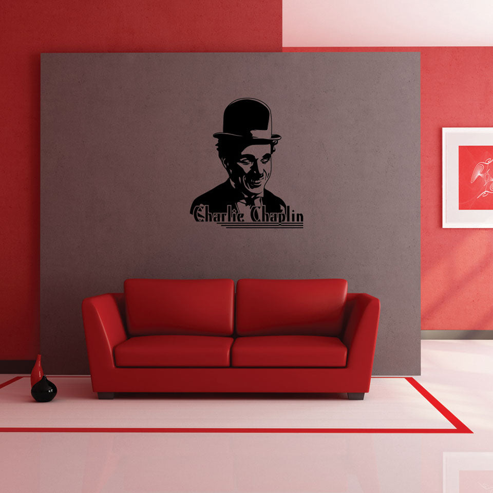 Charlie Chaplin-Wall Decal