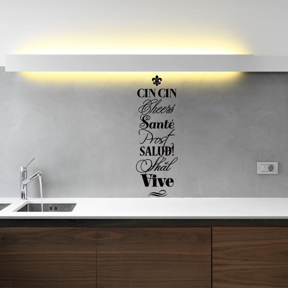 Cheers, Prost, Salud, Vive, Sante... Wall Decal Wall