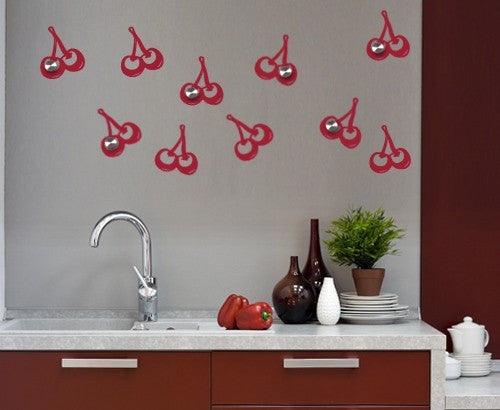 Cherries-Wall Decal Hangers-Style and Apply