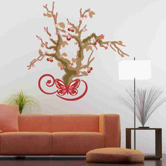 Cherry Blossom Tree Wall Decal-Wall Decal Stickers-Style and Apply